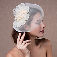 cheap Wedding Headpieces-Crystal Fabric Organza Tiaras Fascinators Flowers Hats 1 Wedding Party / Evening Headpiece