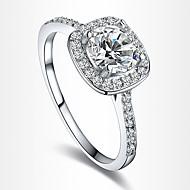 女性用 ステートメントリング 婚約指輪 幸福 欧風 結婚式 コスチュームジュエリー ジルコン キュービックジルコニア 銀メッキ ゴールドメッキ イミテーションダイヤモンド ジュエリー ジュエリー 用途 結婚式 パーティー 誕生日 日常