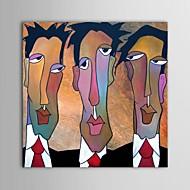 preiswerte Artist - F.Aban-Hang-Ölgemälde Handgemalte - Menschen Zeitgenössisch Segeltuch