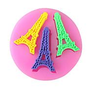 Párizs torony sütés fondant torta choclate édességet penész, l7cm * w6.9cm * h0.7cm sm-256