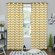 Rod Pocket Grommet Top Tab Top Two Panels Curtain Designer Bedroom Polyester Material Curtains Drapes Home Decoration For Window