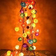 お買い得  LEDライトストリップ-jiawen®4m 20leds rgb led籐ボールストリングライトストリングライト(AC 110-220v)