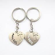 sărut gravură personalizate de metal copil cuplu breloc