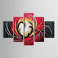billiga Topp Konstnär-HANDMÅLAD Abstrakt vilken form som helst Duk Hang målad oljemålning Hem-dekoration Fem paneler