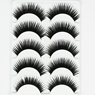 New 5 Pairs European Stlye Black Long Thick False Eyelashes Eyelash Eye Lashes for Eye Extensions