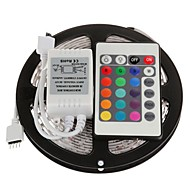 cheap LED Strip Lights-5M 300X5050 SMD RGB LED Strip Light with 24Key Remote Controller (DC12V)