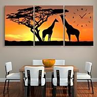 e-Home® kirahvi ja puu kello kankaalle 3kpl