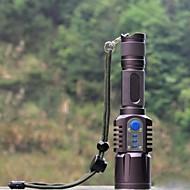 LED懐中電灯 LED 1198 lm 5 モード バッテリー付き 耐衝撃性 滑り止めグリップ 充電式 防水 ミリタリー キャンプ/ハイキング/ケイビング 警察/軍隊 サイクリング 狩猟 釣り 旅行 運転 ウォータースポーツ ワーキング 多機能 登山 ブラック