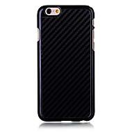 billiga Mobil cases & Skärmskydd-fodral Till Apple iPhone 6 Plus / iPhone 6 Skal Enfärgad Hårt Kolfiber för iPhone 6s Plus / iPhone 6s / iPhone 6 Plus