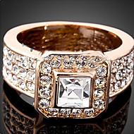 Maxi anel Cristal Zircônia Cubica imitação de diamante Liga Moda Cor Ecrã Jóias Festa 1peça