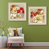 Kukkakuvio/Kasvitiede Kehystetty kanvaasi / Kehystetty setti Wall Art,PVC Beige Ei taustalevyä Frame Wall Art