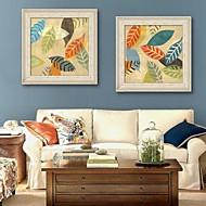 billige Innrammet kunst-Blomstret/Botanisk Innrammet Lerret / Innrammet Sett Wall Art,PVC Beige Ingen Passpartou med Frame Wall Art