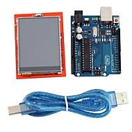 """uno r3 bord modul + 2,4 """"TFT LCD berøringsskjerm skjold utvidelseskort for Arduino"""