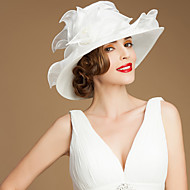 organza Kentucky Derby Hat / Palarie cu Eșarfă / Panglică 1 Nuntă / Ocazie specială / Casual Diadema