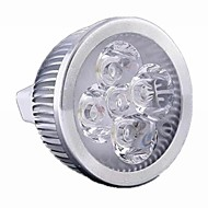 5W GU5.3 (MR16) LED-spotlampen MR16 4 leds Krachtige LED 500lm Warm wit Koel wit Warm: 2800-3200K ; Cool: 6000-6500KK Dimbaar DC 12 AC 12