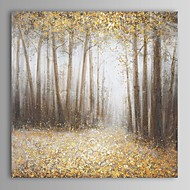 Handgeschilderde Abstract / Landschap / Abstracte landschappen Eén paneel Canvas Hang-geschilderd olieverfschilderij For Huisdecoratie