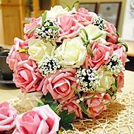 """פרחי חתונה עגול ורדים זרים חתונה פוליאסטר 11.8""""(לערך.30ס""""מ)"""