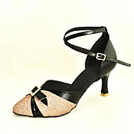 Kan spesialtilpasses-Dame-Dansesko-Moderne Standard sko-Glimtende Glitter Paljetter-Kustomisert hæl-Svart Blå Rosa Rød Sølv Gull