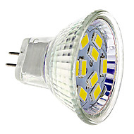 billige Spotlys med LED-GU4(MR11) LED-spotpærer 9 SMD 5730 430 lm Varm hvit Kjølig hvit DC 12 V