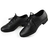 billige Sko til latindans-Herre Moderne sko Lær Høye hæler Snøring Kubansk hæl Kan ikke spesialtilpasses Dansesko Svart