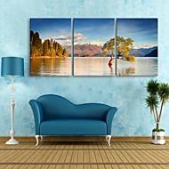 baratos -e-home® lona esticada arte da paisagem do lago Cenário pintura de 3