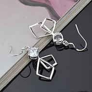Peckové náušnice imitace Diamond Titan Stříbrná Šperky 2pcs