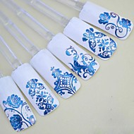 preiswerte 3D Sticker-1x 108 Stück 3d blaue Blume Nail Art Aufkleber