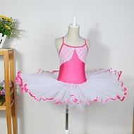 お買い得  セール-子供用ダンスウェア ドレス 子供用 コットン スパンデックス チュール ノースリーブ