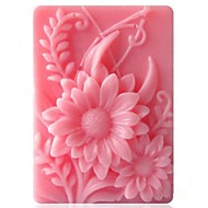 ieftine Forme de Tort-în formă de floarea soarelui instrumente de decor fondantă de tort de ciocolată silicon mucegai tort, l9.2cm * w6.8cm * h3cm