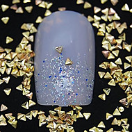 100ks malý trojúhelník zlatý kov nýt nail art dekorace