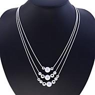 Mulheres Strands Necklace - Prata de Lei, Prateado Cobra senhoras, Fashion Prata Colar Jóias Para Festa, Diário, Casual
