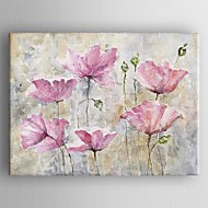 billiga Blom-/växtmålningar-Hang målad oljemålning HANDMÅLAD - Blommig / Botanisk Samtida Duk
