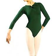 billige Udsalg-Ballet Trikoter Dame Træning Ydeevne Bomuld Polyester Kort Ærme Naturlig