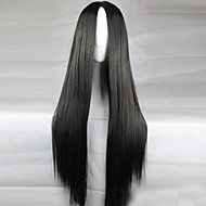 The New Animation Carved Black Long Straight Hair Wig 80CM