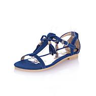 Χαμηλού Κόστους Πέδιλα flat-Γυναικεία Παπούτσια Δερματίνη Άνοιξη / Καλοκαίρι / Φθινόπωρο Ανατομικό Επίπεδο Τακούνι Αγκράφα Ροζ / Μπλε / μπεζ