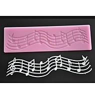 Four-C silikonová podložka krajka dort výzdoba podložka hudba dekorace mat barva růžová lm-01