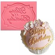 mutlu yıllar şekilli fondan kek çikolata silikon kalıp rastgele renk