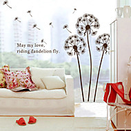 Wall Stickers Wall Decals Style Brown Dandelion PVC Wall Stickers