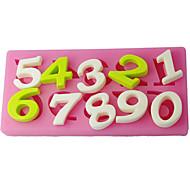 četiri-c šećera obrta alati broj tortu utiskivanje plijesni, torta ukras, Fondant ukrašavanja alata isporučuje boja roza