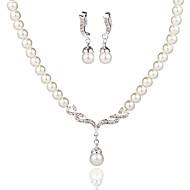 Set bijuterii Pentru femei Aniversare / Nuntă / Logodnă / Zi de Naștere / Cadou / Ocazie specială Set Bijuterii Aliaj Perle / Ștras