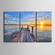 e-home® bredden av elven klokken i canvas 3pcs