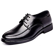 Men's Shoes Leather Spring Summer Fall Winter Comfort Formal Shoes Oxfords Lace-up For Casual Black