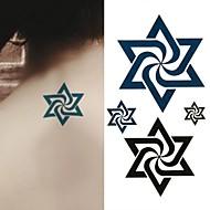 Tatuointitarrat Toteemisarja - Paperi - Non Toxic/Alaselkä/Waterproof - Uzumaki Spiral Vortex Naruto Uzumaki Star - 6*10.5cm (2.36*4.13in) -