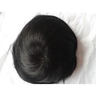 "Hint insan saçı simsiyah # 1 8 ""x6"" mono baz peruk"