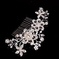 cheap Wedding Headpieces-Alloy Hair Combs Headwear with Floral 1pc Wedding Special Occasion Casual Headpiece