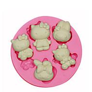 billige Bakeredskap-Bakeware verktøy Silikon Økovennlig / 3D Kake / Til Småkake / Pai Dyr Bakeform 1pc