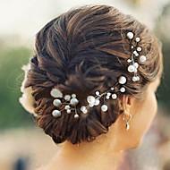 成人用 フラワーガール 真珠 かぶと-結婚式 パーティー カジュアル ヘアピン