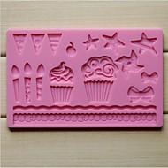tanie Przybory do pieczenia-Ciasto koronki moda silikon kremówki czekolada dekorowanie narzędzia mat formy kuchnia pieczenia pieczenia gotowania (losowy kolor)