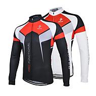 Arsuxeo Muškarci Dugih rukava Biciklistička majica - Obala Crn Bicikl Biciklistička majica Jakna, Quick dry, Anatomski dizajn, Prozračnost