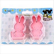 billige Kjeksverktøy-tegnefilm diy moro Miffy kanin fondant kake cookie cutter mold